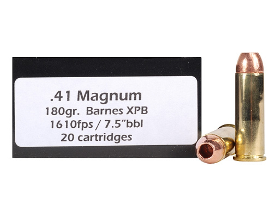 Doubletap Ammunition 41 Remington Magnum 180 Grain Barnes XPB Hollow Point Lead-Free Box of 20