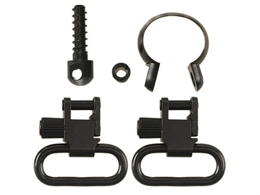 "Uncle Mike's Quick Detachable Sling Swivel Set Remington (1969 and Later) 7600, 760, Six, 740, 742 and Barrels with Diameters .645""-.660"" Full Band 1"" Black"