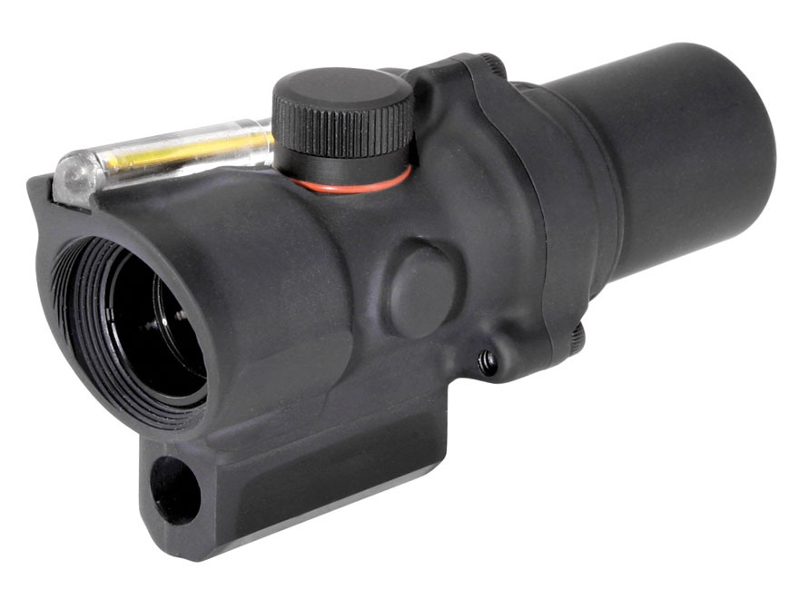Trijicon ACOG TA44 Compact Rifle Scope 1.5x 16mm 12.1 MOA Dual-Illuminated Ring and Dot Reticle with AR-15 Carry Handle Base Matte