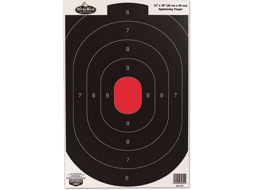 "Birchwood Casey Dirty Bird 12"" x 18"" Silhouette Targets Package of 8"