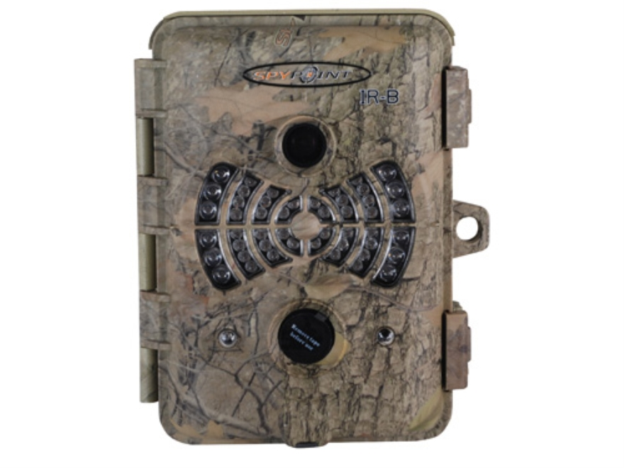 SpyPoint IR-B Infrared Digital Game Camera 7.0 MP Spypoint DarkForest Camo with Lithium Battery and Battery Charger