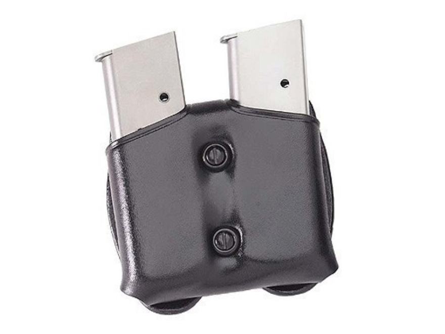 Galco COP Double Magazine Pouch 40 S&W, 9mm Double Stack Metal Magazine Leather Black
