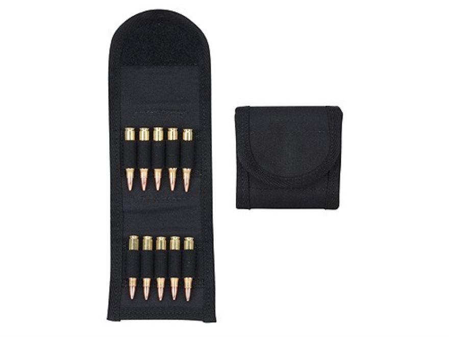 Hunter Ruffstuff Belt Slide Folding Rifle Ammunition Carrier 10-Round Nylon Black