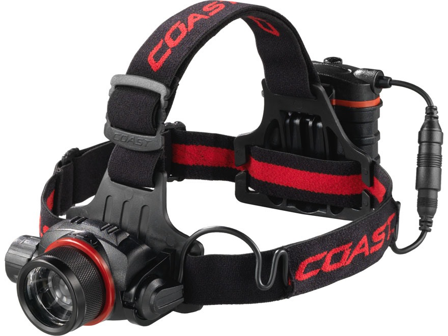Coast HL8 Headlamp LED Focusable Variable Power with 4 AA  Batteries Aluminum Black