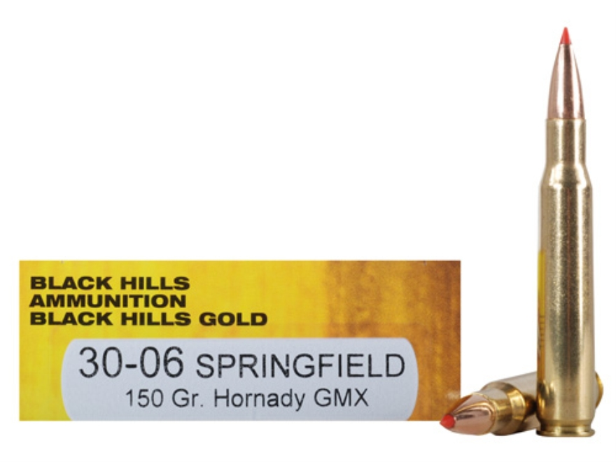 Black Hills Gold Ammunition 30-06 Springfield 150 Grain Hornady GMX Lead-Free Box of 20