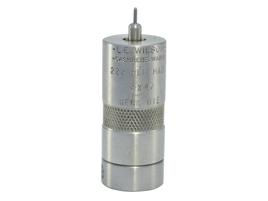 L.E. Wilson Stainless Steel Bushing Neck Sizer Die 222 Remington Magnum, 6x47mm (6mm-222 Remington Magnum)