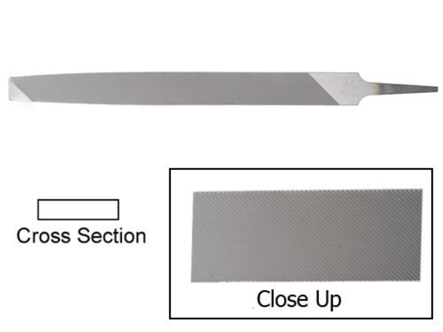 """Nicholson 10"""" Bastard Cut Long Angle Lathe File"""