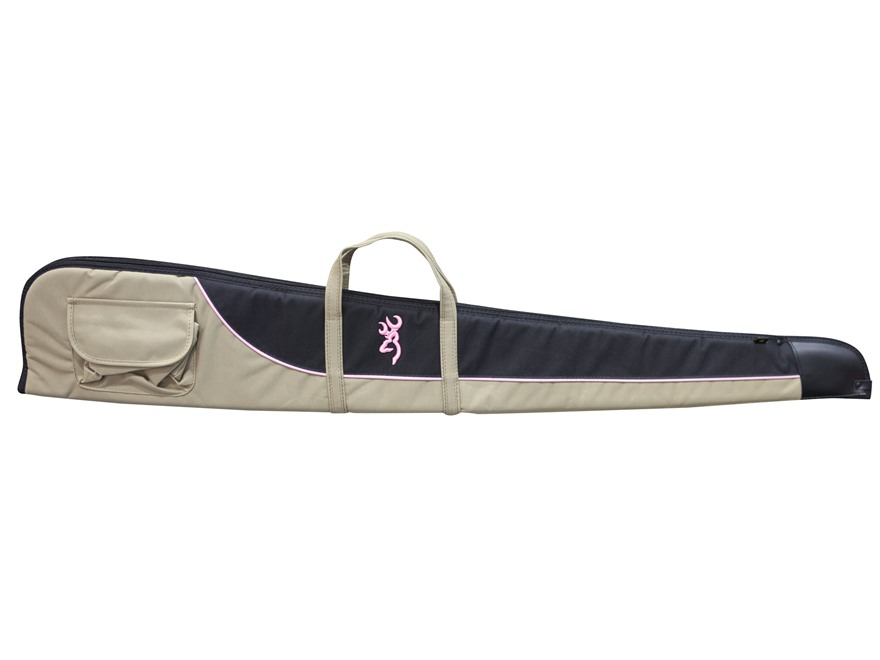 "Browning Cimmaron For Her Shotgun Case 52"" Canvas Taupe/Black with Pink Trim"