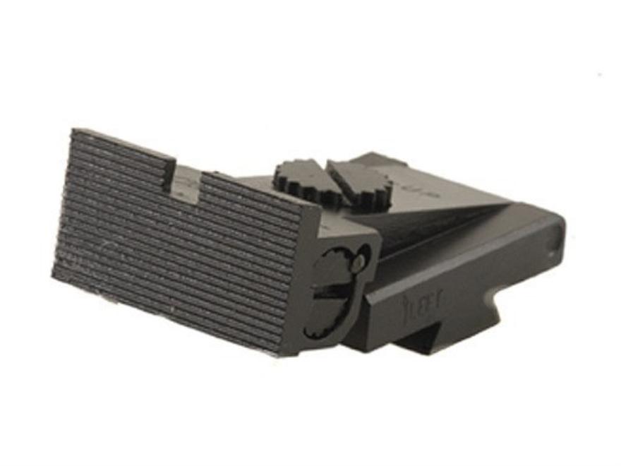 Kensight Adjustable Rear Sight 1911 Bo-Mar Cut Steel Black Square Blade Fully Serrated