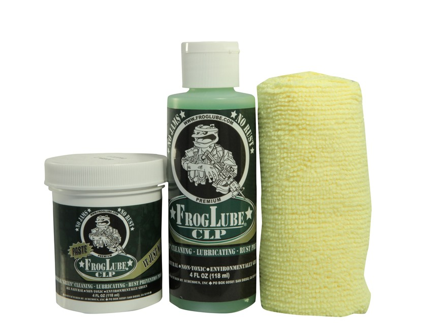 FrogLube Dual Kit CLP Bio-Based Cleaner, Lubricant, and Preservative 4 oz Liquid and FrogLube CLP Bio-Based 4 oz Paste