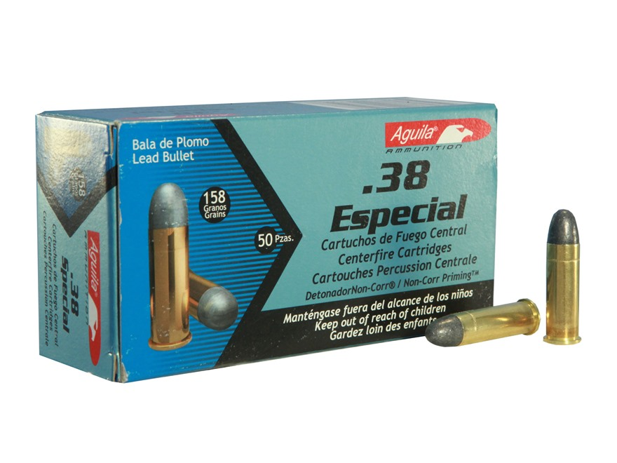 Aguila Ammunition 38 Special 158 Grain Lead Round Nose