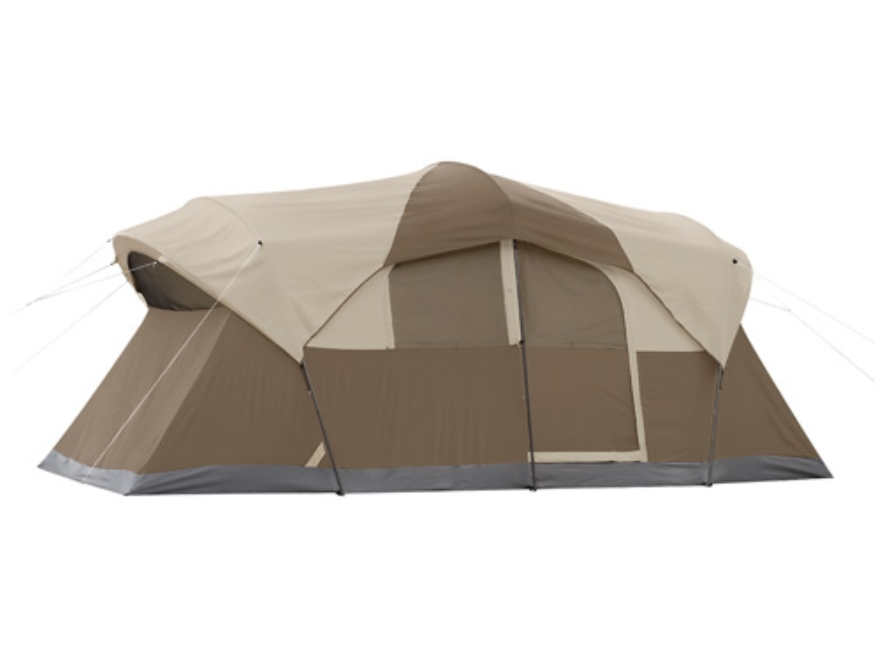 "Coleman WeatherMaster 10 Person Cabin Tent 204"" x 108"" x 80"" Polyester Gray and Tan"