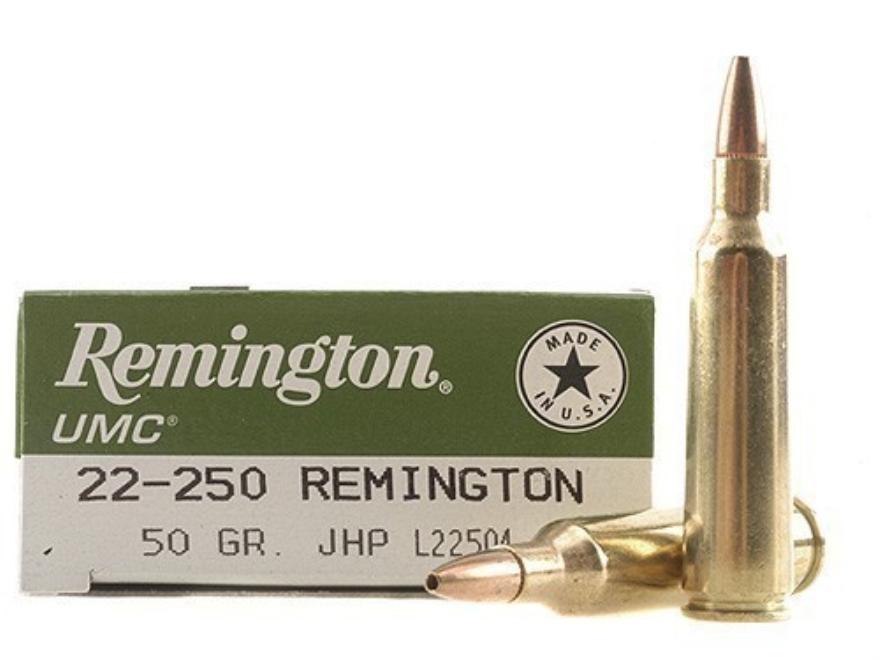 Remington UMC Ammunition 22-250 Remington 50 Grain Jacketed Hollow Point
