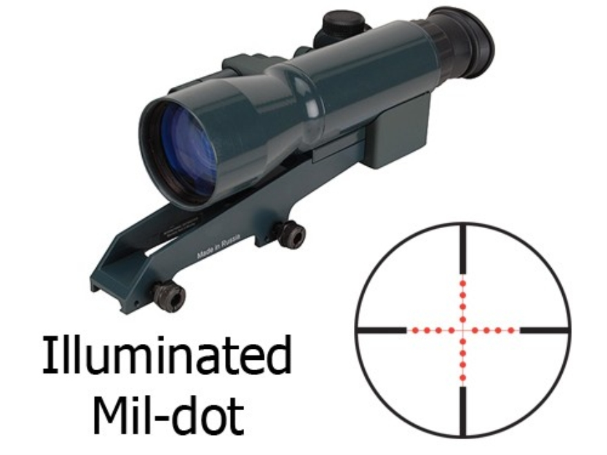 Yukon NVRS Titanium Varmint Hunter 1st Generation Night Vision Rifle Scope 2.5x 50mm with Integral Weaver-Style Mount Illuminated Duplex Reticle Matte