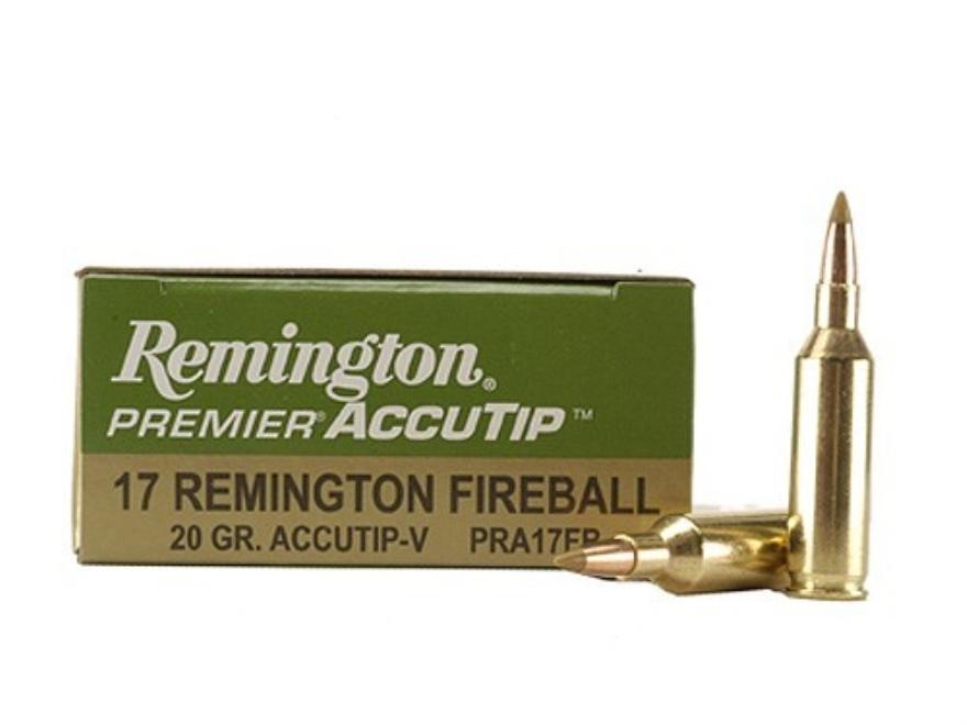 Remington Premier Varmint Ammunition 17 Remington Fireball 20 Grain AccuTip Boat Tail Box of 20