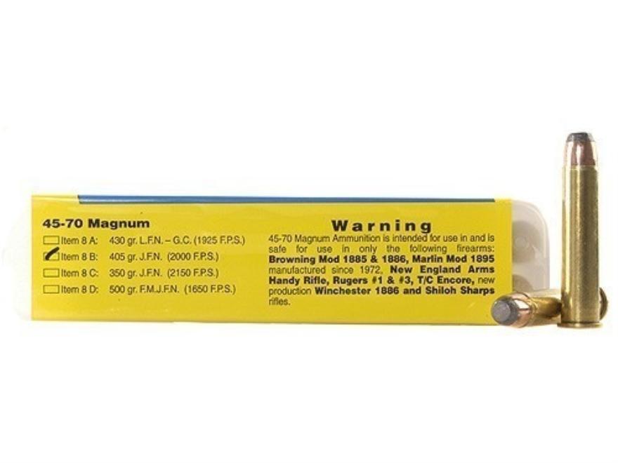 Buffalo Bore Ammunition 45-70 Government 405 Grain Jacketed Flat Nose Box of 20
