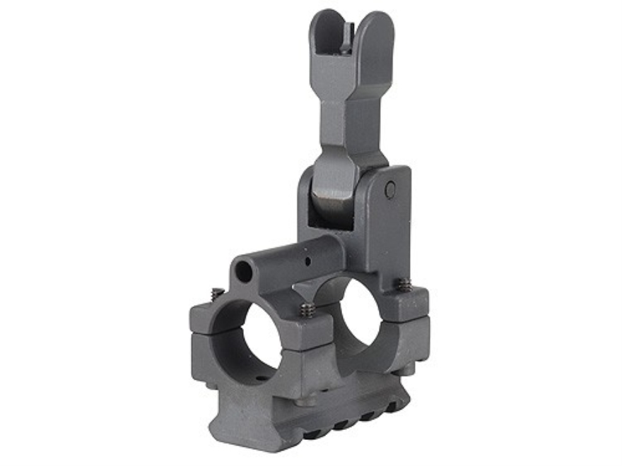 "Yankee Hill Machine Gas Block with Flip-Up Front Sight & Bottom Rail Bolt-On Mount AR-15, LR-308 Standard Barrel .750"" Inside Diameter Steel Matte"