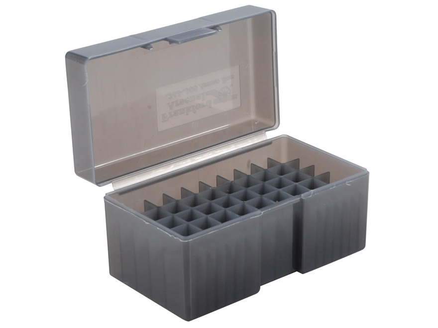 Frankford Arsenal Flip-Top Ammo Box #509 22-250 Remington, 243 Winchester, 308 Winchester 50-Round Plastic Smoke Box of 10