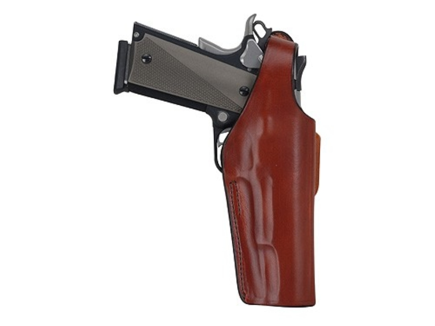 Bianchi 19 Thumbsnap Holster 1911, Browning Hi-Power Leather Tan