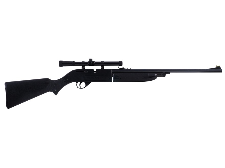 Crosman 664GT Powermaster Air Rifle 177 Caliber BB and Pellet Kit Polymer Stock Black Blue Barrel