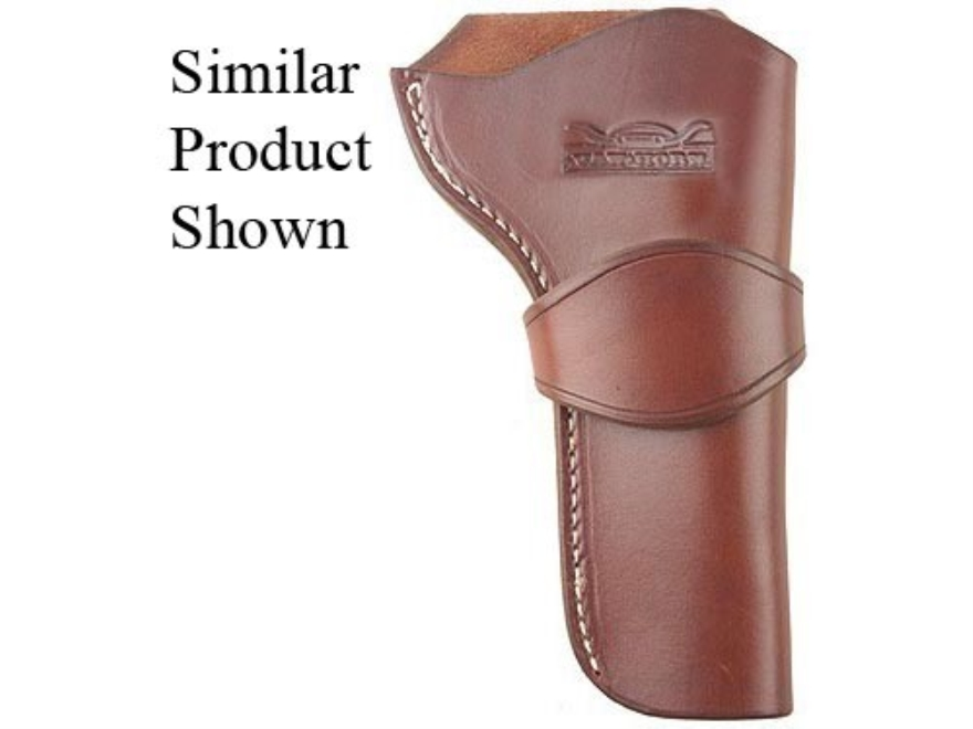 "Van Horn Leather Strong Side Single Loop Holster 4.75"" Single Action Right Hand Leather Chestnut"