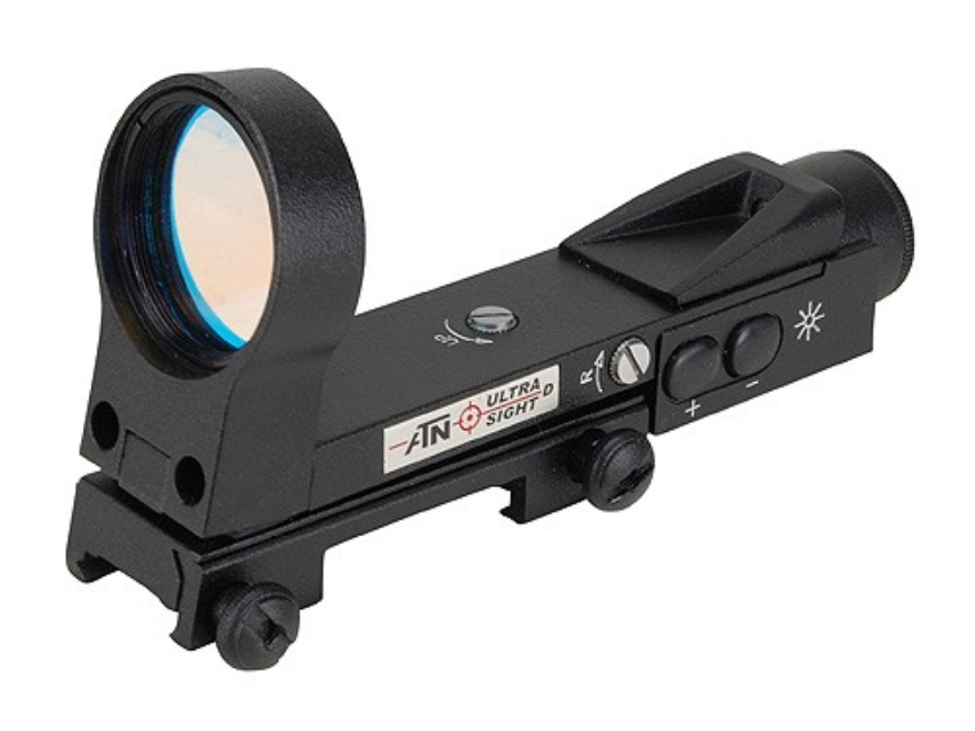ATN Digital Ultra Reflex Red Dot Sight 33mm 5-Pattern Reticle (2 MOA Dot, Post, Post with 6 MOA Dot, Open Crosshair, Crosshair with 6 MOA Dot) Matte