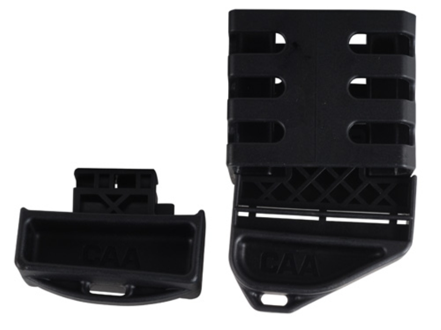 Command Arms Modular Magazine Coupler with 2 Extended Base Pads fits AR-15 Metal Bodied Magazines Polymer Black
