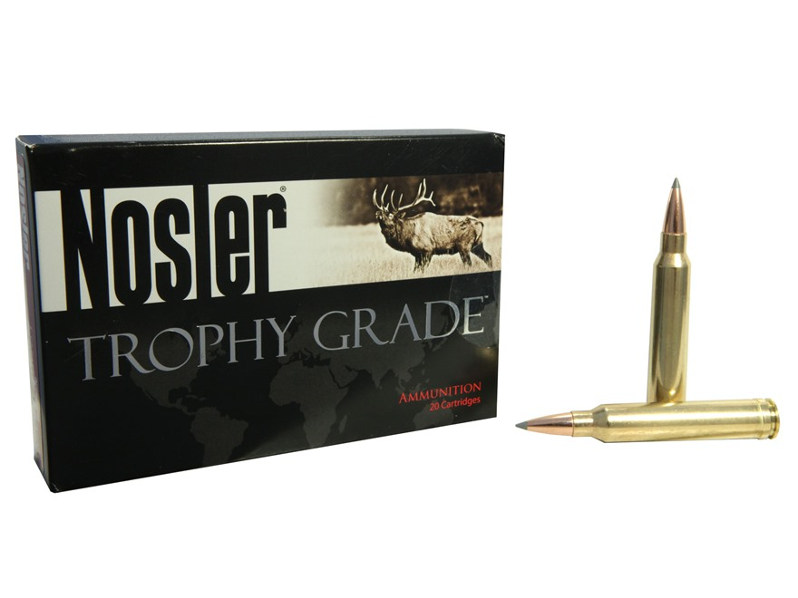 Nosler Trophy Grade Ammunition 300 Winchester Magnum 190 Grain AccuBond Long Range Box of 20