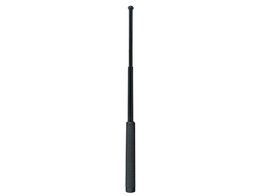 "ASP Friction Loc Baton 21"" Collapsible 4140 Steel Shaft Black Chrome Finish Foam Grip Black"
