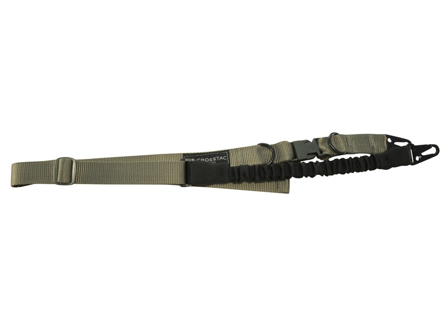 CrossTac Tactical Single/Double Point Sling Long Nylon Bungee