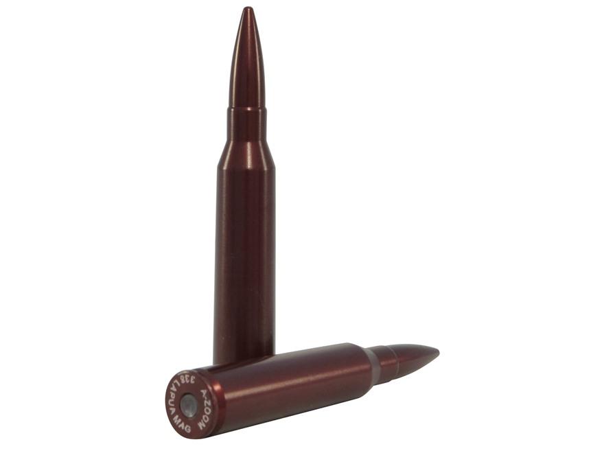 A-ZOOM Action Proving Dummy Round, Snap Cap 338 Lapua Magnum Aluminum Pack of 2