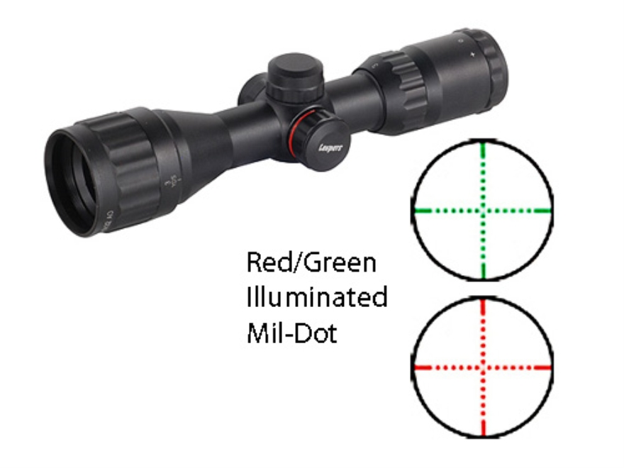 Leapers UTG TS Platform Bug Buster Mini Rifle Scope 3-9x 32mm Adjustable Objective Red ...