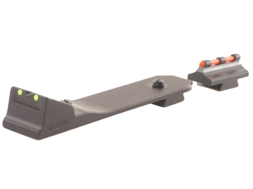 Williams Fire Sight Set Dovetail Marlin and Winchester with Front Ramp, Rear Dovetail Aluminum BLack Fiber Optic Green