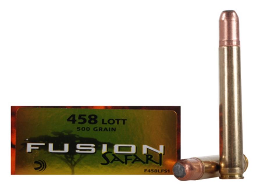Federal Fusion Safari Ammunition 458 Lott 500 Grain Spitzer Boat Tail Box of 20