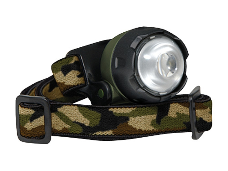 Cyclops Atom Headlamp LED with 2 CR2032 Batteries Polymer Camo
