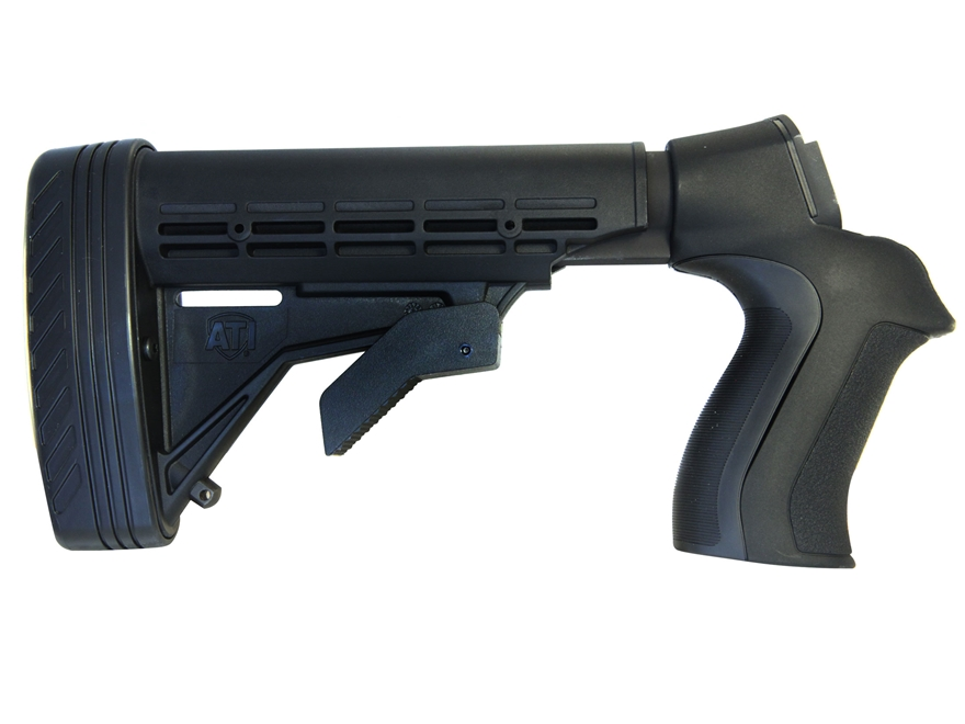 Advanced Technology Talon Tactical 6-Position Collapsible Stock with Triton Mount & Scorpion Recoil System Mossberg 500, 590, 835, Maverick 88 12 Gauge Black