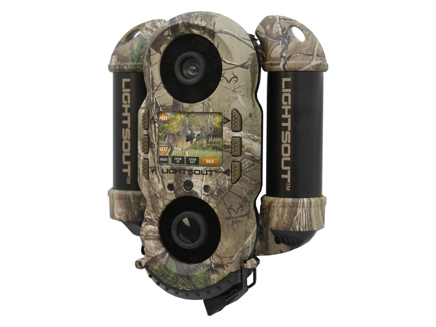 Wildgame Innovations Crush 10X Lightsout Black Flash Infrared Game Camera with Viewing Screen 10 Megapixel Realtree Xtra Camo