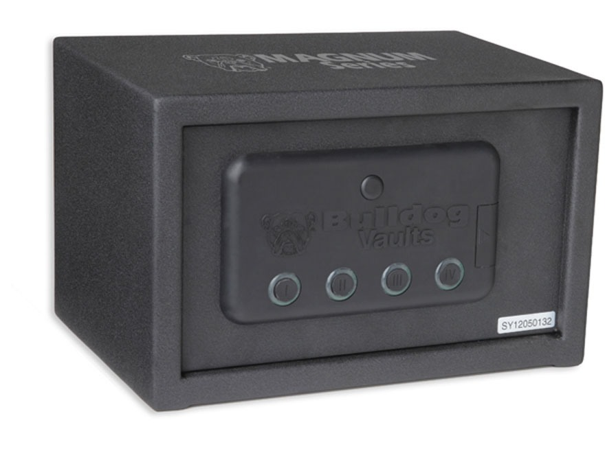 "Bulldog Magnum Digital Pistol Vault with Automatic Bolt System 7-1/4"" x 11"" x 8"" Steel Black"