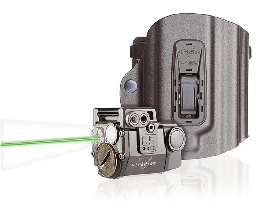 Viridian C5L Laser Sight 100 Lumen Tactical Flashlight with TacLoc ECR Holster for Spri...