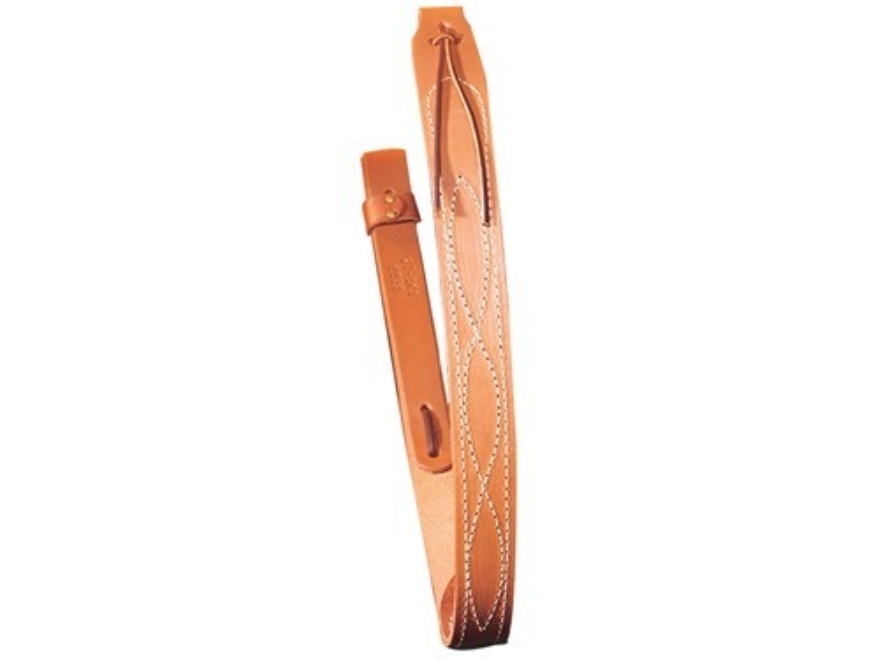 "Hunter Deluxe Carrying Strap Sling with Stitched Design and No Metal Hardware Fits 1"" Sling Swivels Leather Brown"