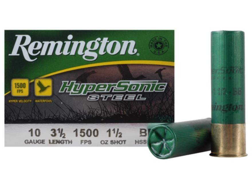 "Remington HyperSonic Ammunition 10 Gauge 3-1/2"" 1-1/2 oz BB Non-Toxic Shot"