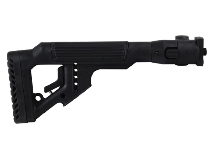 Mako Tactical Side Folding Buttstock with Adjustable Cheek Rest Polymer Joint VZ-58 Polymer Black