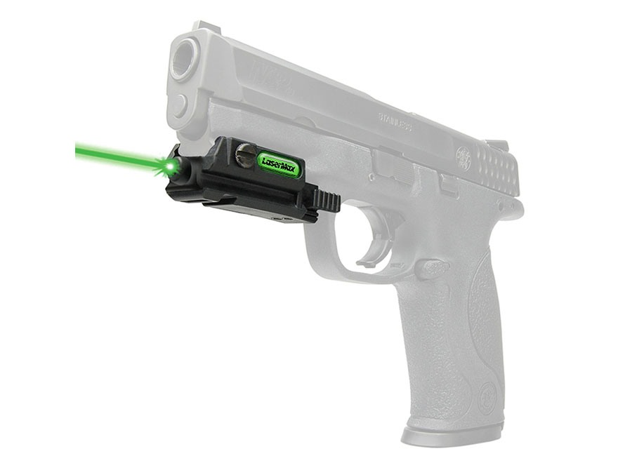 LaserMax Uni-Max External High-Bright Green Laser with Integral Picatinny-Style Mount Plus Accessory Picatinny Rail Matte