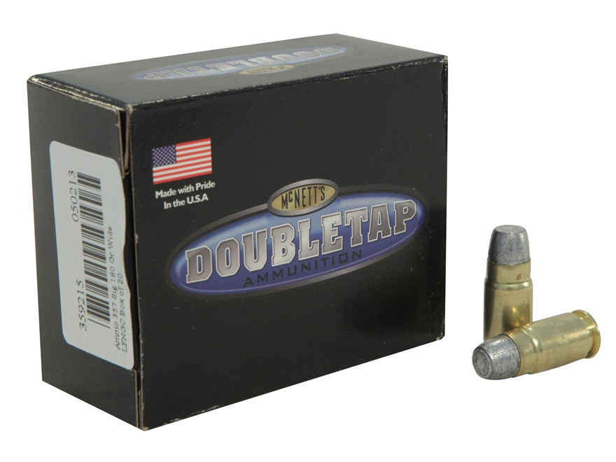 Doubletap Ammunition 357 Sig 180 Grain Wide Flat Nose Gas Check