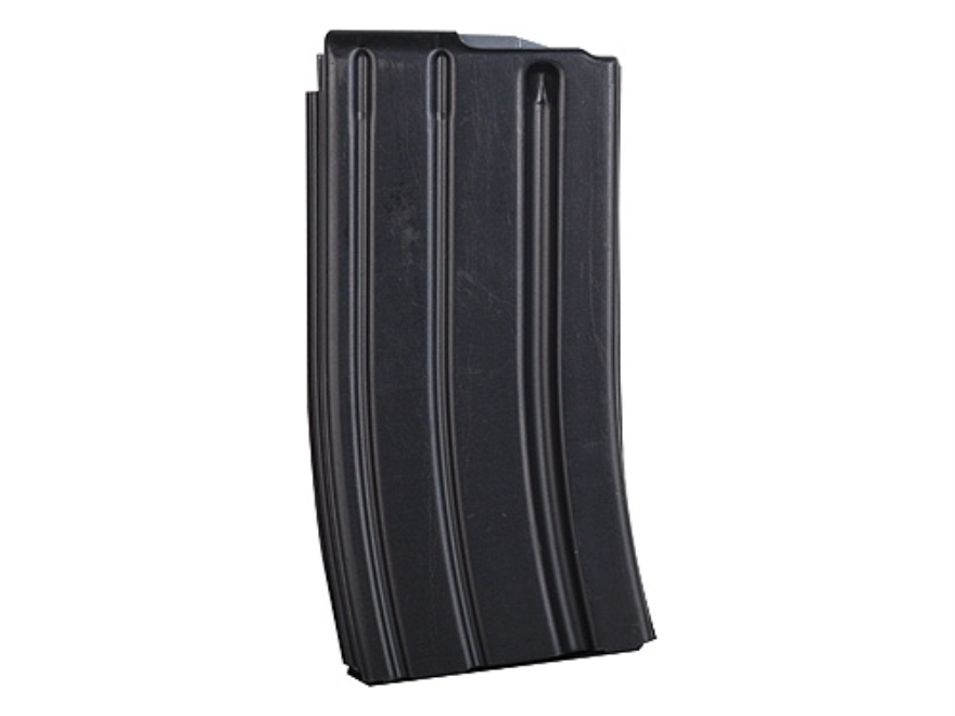 C Products Magazine AR-15 223 Remington 20-Round Curved Body with Anti Tilt Follower Stainless Steel Black