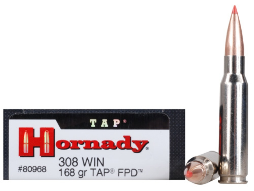 Hornady TAP Personal Defense Ammunition 308 Winchester 168 Grain Polymer Tip Box of 20