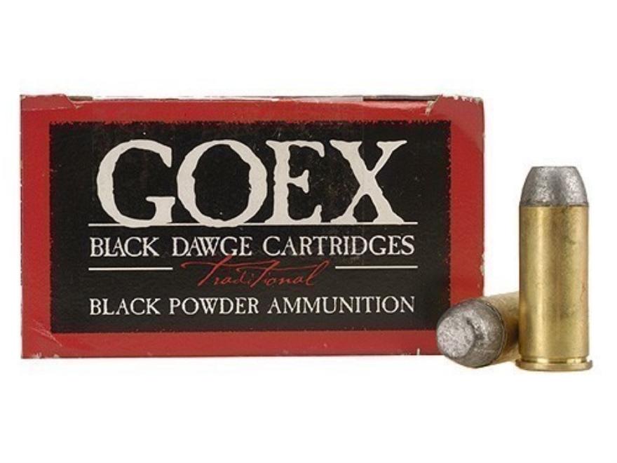 Goex Black Dawge Black Powder Ammunition 45 S&W Schofield 230 Grain Lead Flat Nose Box of 50