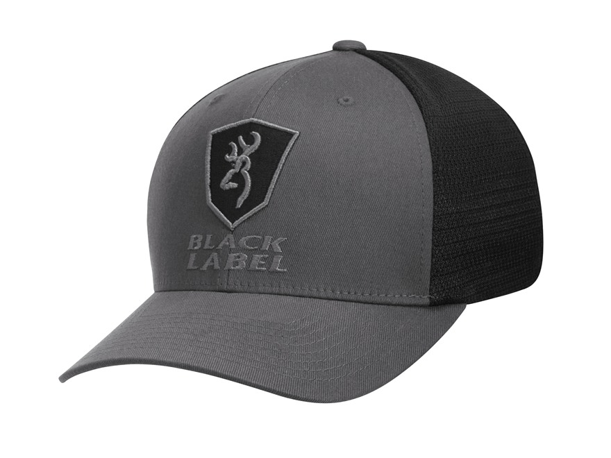 Browning Black Label Alfa Flex Fit Meshback Cap Cotton Twill/Polyester Gray/Black