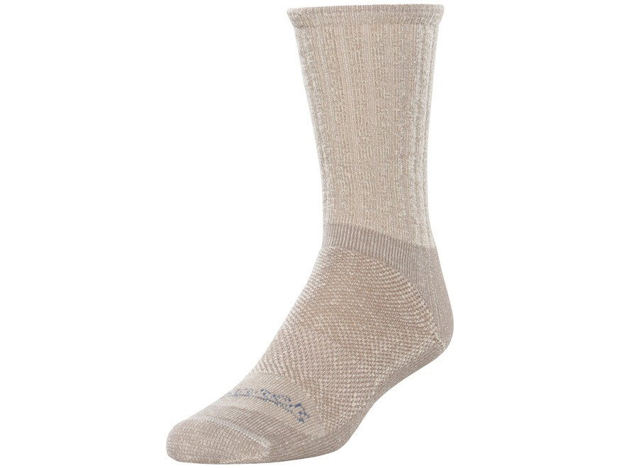Danner Men's Quarry Lightweight Crew Socks Merino Wool and Synthetic Blend Light Brown Medium (5-8-1/2)