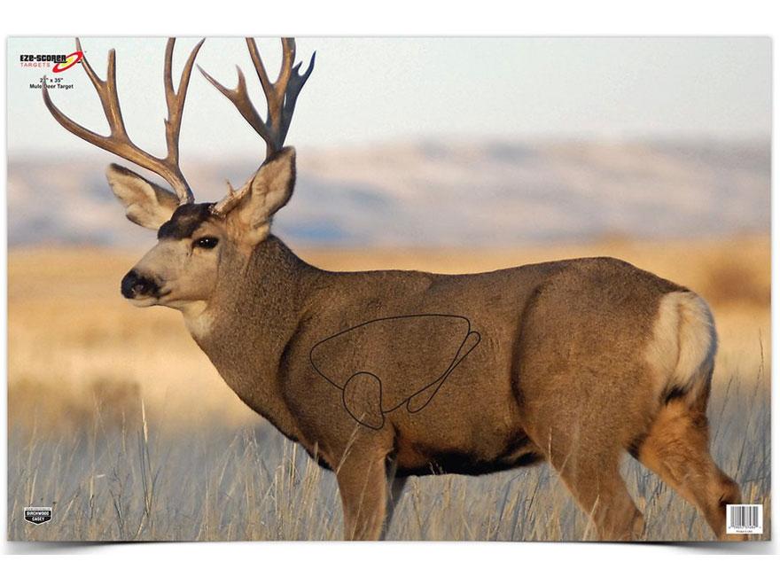 "Birchwood Casey Eze-Scorer Mule Deer Targets 23"" x 35"" Pack of 2"